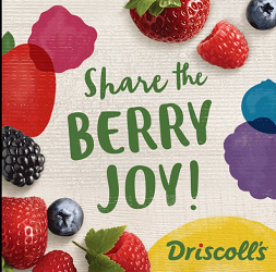 Driscolls.com Sweepstakes: Share The Joy, Win Free Berries for a Year