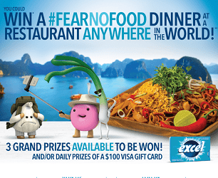 Excel Gum, ExcelFearNofood.ca Contest: Win Food Tours & $100 Prizes