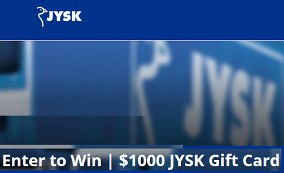 JYSK.ca Contest: $1,000 Newsletter Giveaway