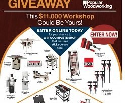 Popular Woodworking Magazine Sweepstakes for Canada Workshop Giveaway