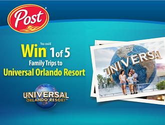 PostConsumerBrands.ca: Enter Pins to win Universal Orlando Vacation Contest