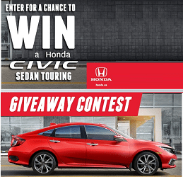 Honda.ca Contest: Win a Honda Civic