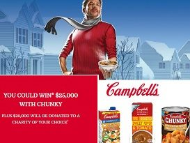 Campbells Contests for Canada Chunky 50/50 Giveaway