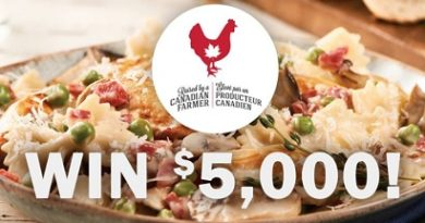 Chicken Farmers Canada Contest - $5,000 Giveaway