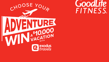 GoodLife Fitness Clubs Contests Giveaway