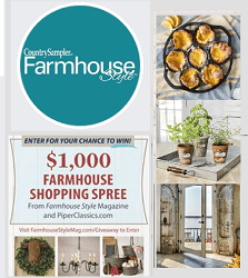 Country Sampler Farmhouse Style Giveaways