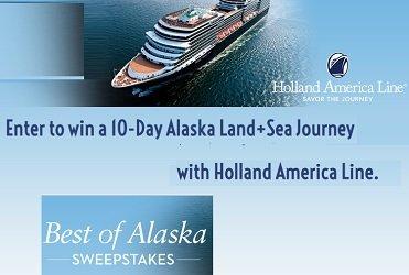 Holland America Line Alaska Contests for Canada & US 2019 Best Of Alaska Sweepstakes,www.halalaska.com