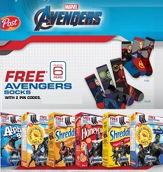 Post Foods Canada Marvel Avenger Socks Giveaway