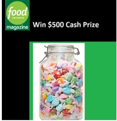 Foodnetwork com Whos counting Giveaway - Win $500