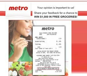 Metro Survey: Win $1,000 in Free Groceries at Metrosurvey ca Contest