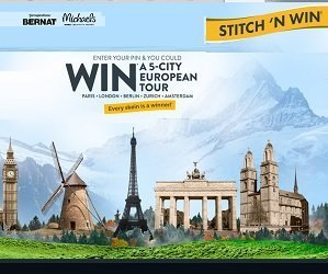 Michaels Sweepstakes Enter Bernat Stitchnwin.com Pins to Win Trip to Europe