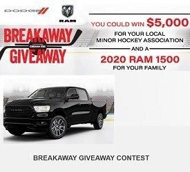 Dodge Caravan: Enter Breakawaygiveaway.ca to WIN 2020 Ram & $5,000 Minor Hockey Prize