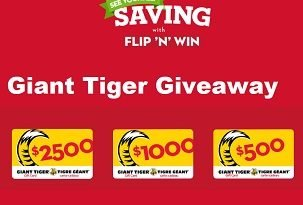 Giant Tiger Contest: Enter Flip N Win Codes to Win Cash Prizes