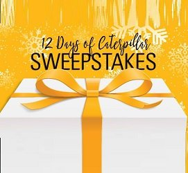 CaterpillarSweepstakes: 12 Days of Giveaways at cat.com/12days