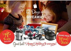 t-fal 12 days of giveaways contest