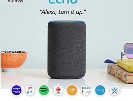 Amazon Echo Giveaway: Win Echo Dot (3rd Gen) with Alexa & Clock, $80