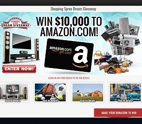 Dream Giveaway Sweepstakes: Win $10,000 Amazon Gift Card at dreamgiveway.com