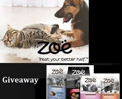 Zoe For Pets Contest:  Win Free 1 YEAR supply of Cat or Dog Food,  FITBARK 2 Monitor or CATIT kit