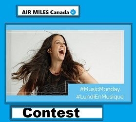 AIRMILES.ca #MusicMonday Contest: Win $100 Ticketmaster Gift Cards