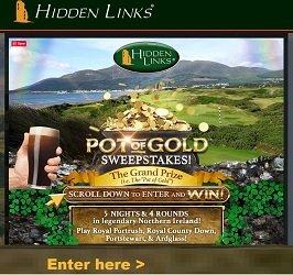 Hidden Links Golf Sweepstakes: Pot Of Gold Ireland Giveaway