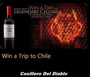 Casillero del Diablo Contest: Win a Trip to Chili, Challenge Your Senses Giveaway