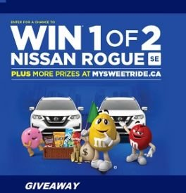 Mars Giveaway My Sweet Ride: Win Nissan Rogue & Cash Prizes