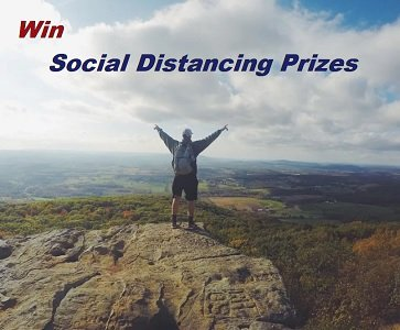 Win Social Distancing Giveaways: including free Amazon Gift Cards, delivery food, Hiking Gear & Prize Packs