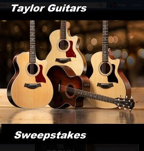 Taylor Guitars Giveaways for Canada & US