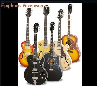 Epiphone Guitar Giveaway