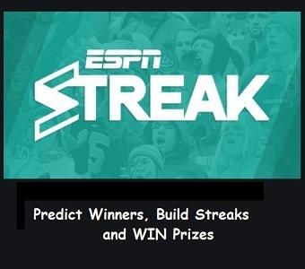 ESPN Fantasy Sweepstakes  ESPN Streak Challenge