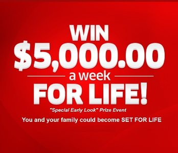 Win Money For Life Sweepstakes (5,000/week Prize)