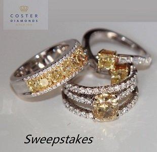 Coster Diamonds Giveaways, win free diamond jewelry