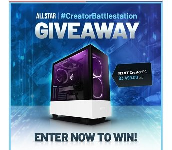 win the NZXT Creator PC ($3,499 Value) built with an Intel Core i9 9900k and Nvidia GeForce RTX 2080 Ti.