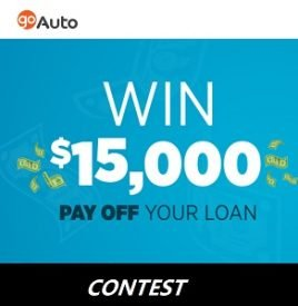 GoAuto Contest: Win $15,000 Cash Prize (AB,MB,BC,ON)