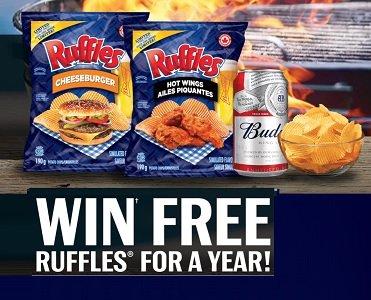 Ruffles Contest: Win Free Ruffles for a Year Giveaway   visit www.BBQSZN.ca (french lasaisonduBBQ.ca)