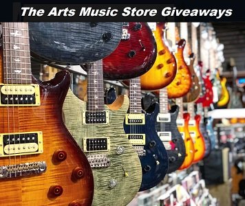 The Arts Music Store Sweepstakes. Enter at www.theartsmusicstore.com to win guitar prizes, keyboards, drums and shopping gift cards