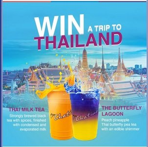 Chatime X Thailand Contest: Win Trip for Two to Thailand
