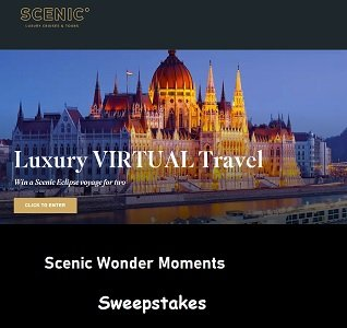 Scenic Wonder Moments Contest Luxury Travel Giveaways.Enter at  www.scenicwondermoments.com