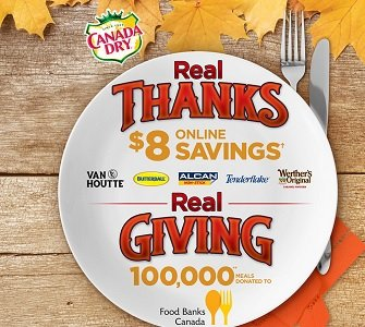 Canada Dry: Claim Realthanksrealgiving.ca $8 Coupon (Pin Code)