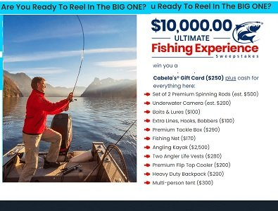 PCH.com Sweepstakes: 10k Ultimate Fishing Giveaway