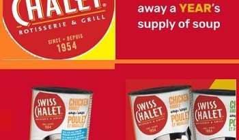 Swiss Chalet Grocery Giveaway: Win FREE year's supply of Soup