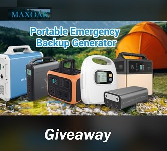 Maxoak Giveaway:- Win portable generators and Power Station Prizes