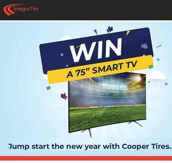 Integra Tire  Contest buy Cooper Tires win Smart TV Giveaway