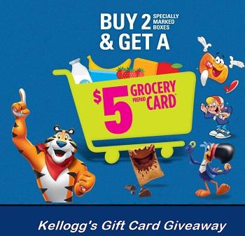 Kelloggs Grocery Cash: Claim Free $5 Cards kelloggsgrocerycash.ca